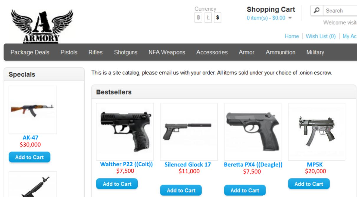 dark web gun dealers