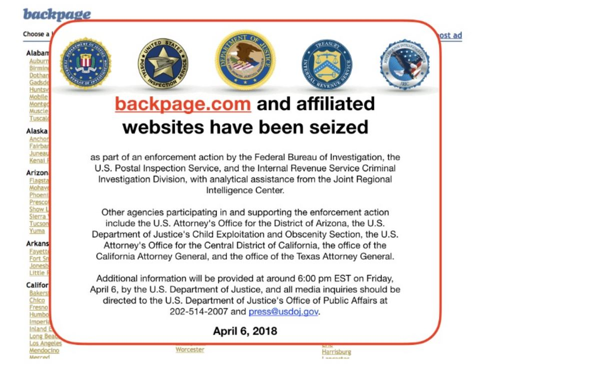 feds take down Backpage.com