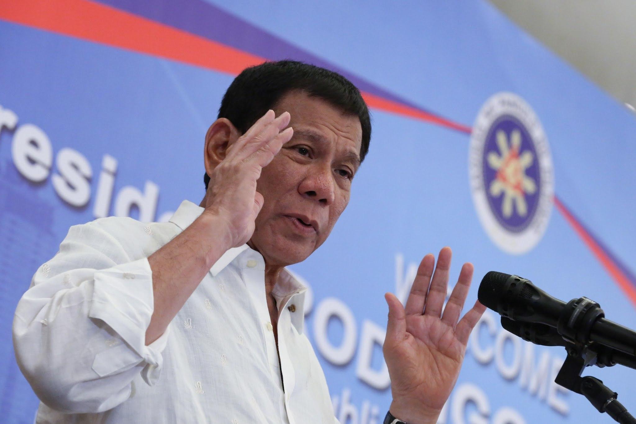 Duterte admits authorising extrajudicial killings