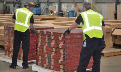 record haul of 9.5 million smuggled cigarettes