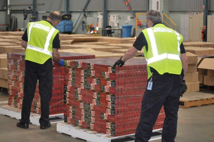 record haul of 9.5 million smuggled cigarettes