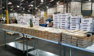 two huge shipments of hard drugs