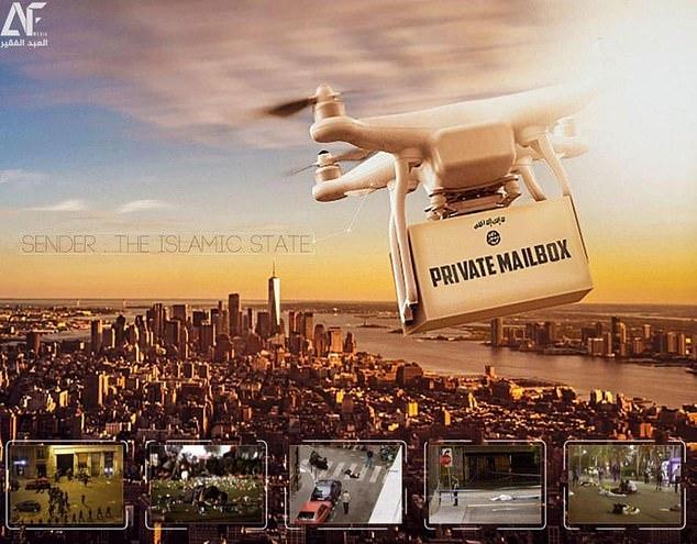 terrorists use drones