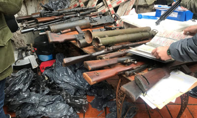 seizure of thousands of firearms