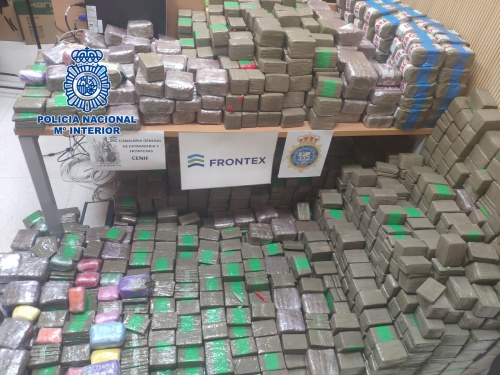 cannabis smuggled into Spain from Morocco