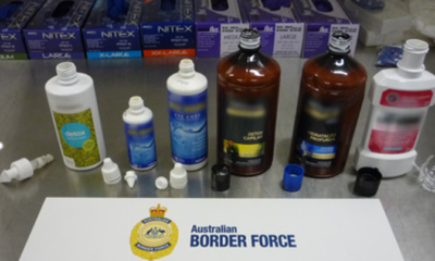 cocaine stashed in shampoo bottles